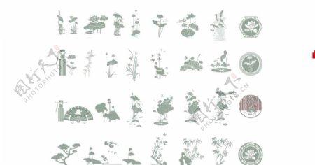 荷花莲花廉政文化墙素材图片