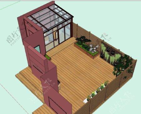 阳光房庭院图片