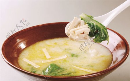 小白菜炖豆腐图片