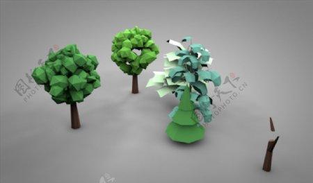 C4D模型树木图片