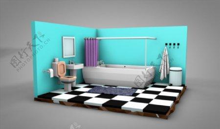 C4D模型卫生间图片
