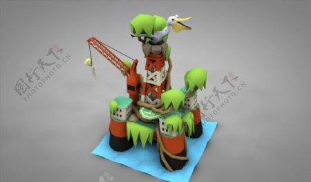C4D模型吊车吊机图片
