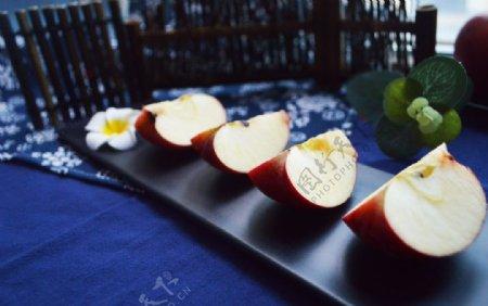 切开的苹果高清拍摄素材图片