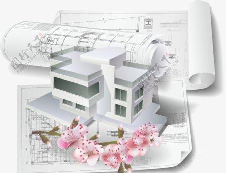 建筑结构图房屋别墅房子图片