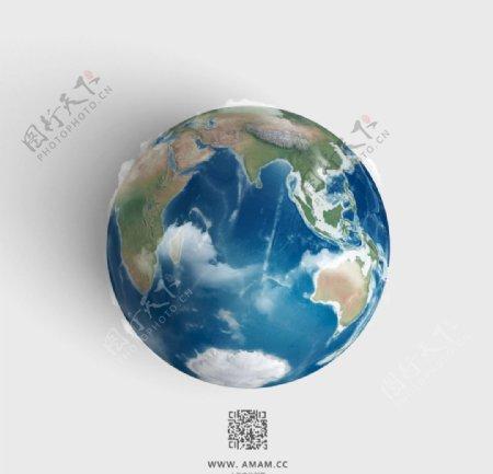 地球各大洲高清模型图片