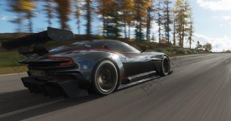 黑色汽车跑车交通工具图片