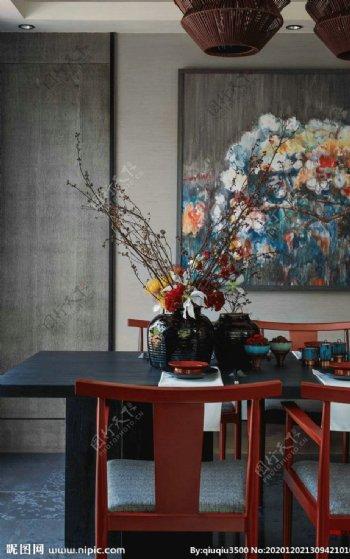 餐厅墙纸展示图片