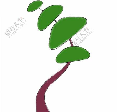 手绘卡通植物图片