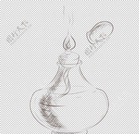 酒精灯化学实验器材PNG图片