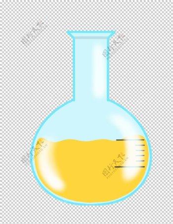 圆底烧瓶化学实验器材PNG图片