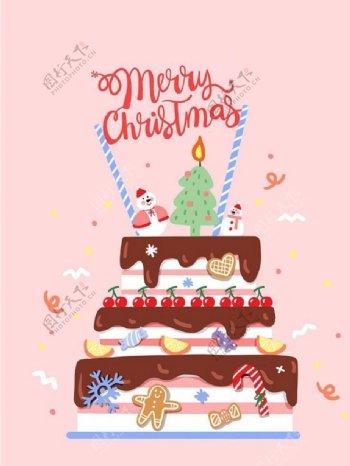 圣诞蛋糕图片