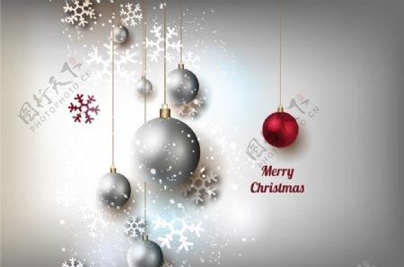 圣诞节灰色背景图片