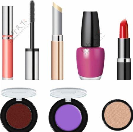 矢量各种各样化妆品图片