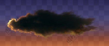 夕阳云黑色云乌云图片