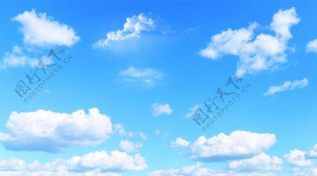 蓝天白云天空图片