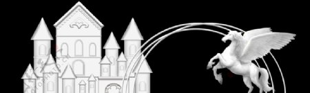 城堡飞马婚庆道具图片