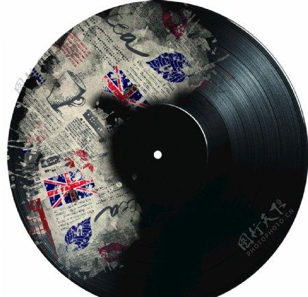 复古民国风老式唱片碟片图片