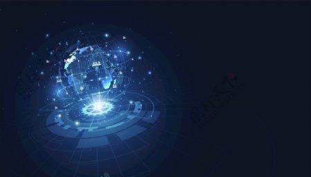 蓝色地球科技网络连接通讯技术图片