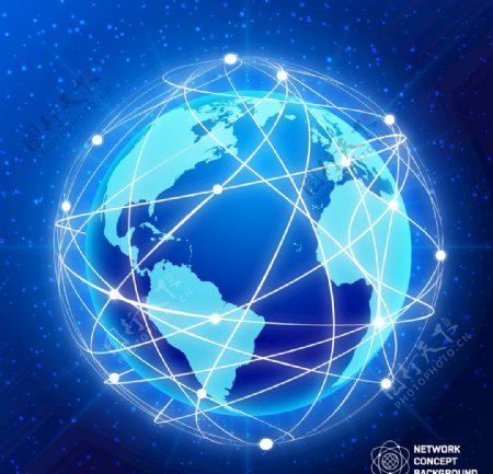 地球科技蓝色背景图片EPS素材