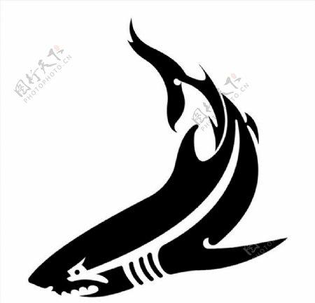 大白鲨矢量图图片