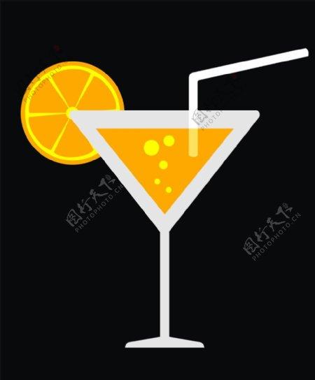 矢量橙汁图片