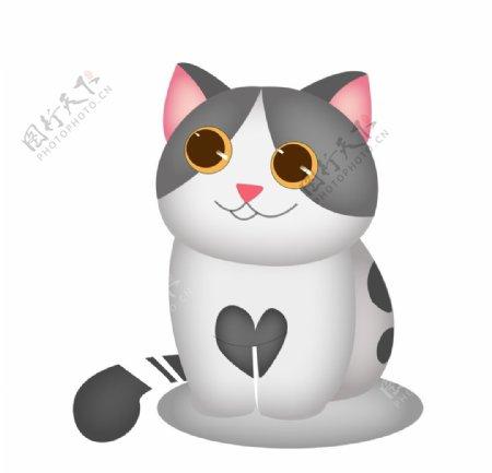 手绘卡通可爱小猫图片