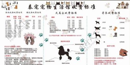 宠物价目表图片