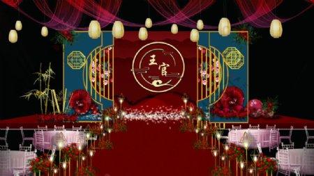 新中式婚庆背景图片