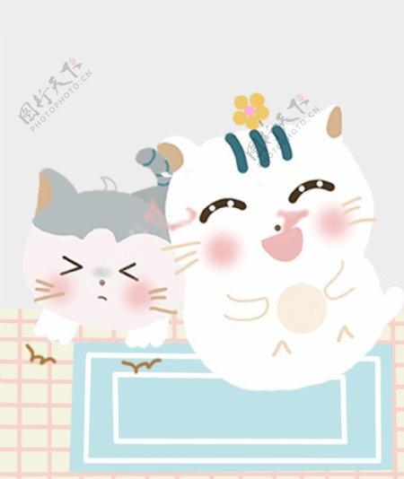 可爱小猫插画图片