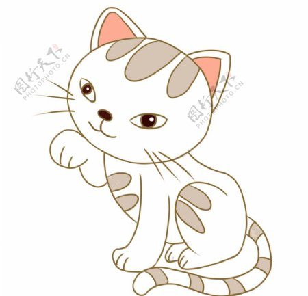 简笔画猫插画图片