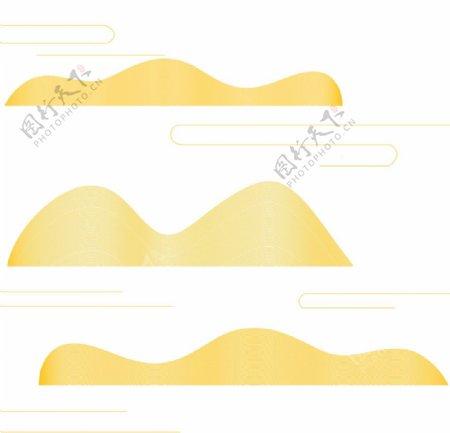 山和云简笔画意境图片