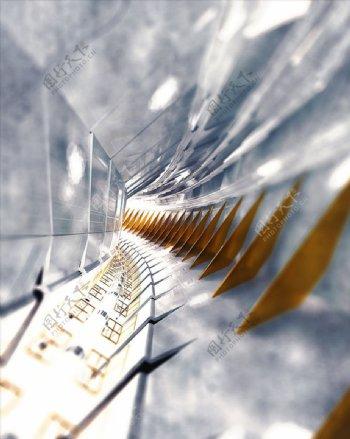 C4D模型机械空间太空舱抽象图片