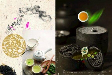 茶文化茶叶素材采茶制茶图片