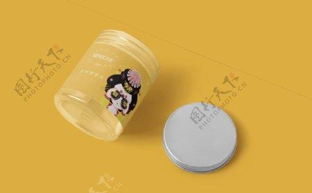 透明罐样机图片