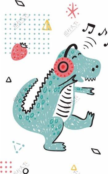 恐龙动物图案游乐园动物园图片