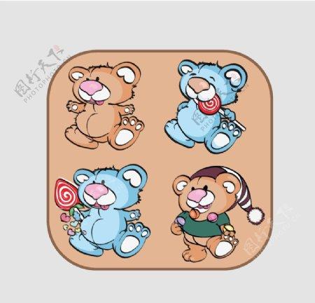卡通动物图案可爱布偶吉祥物图片