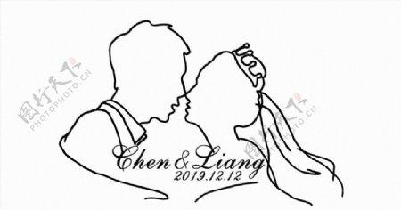男女亲吻带皇冠图片