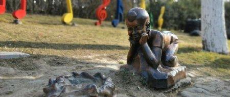 人物雕塑铜图片