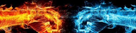 PK抽象火焰拳头图片