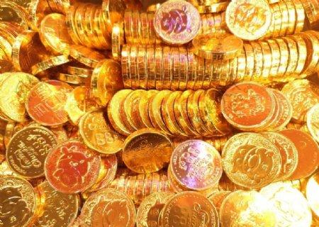 金币巧克力年货图片