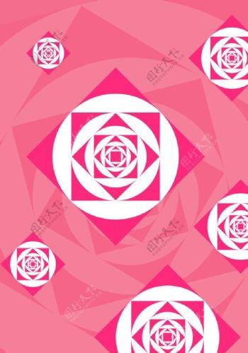 粉色花纹背景图图片