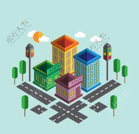 城市位图图片