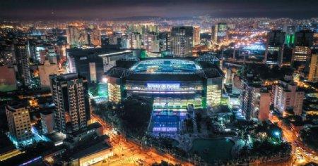 俯拍城市夜景图片