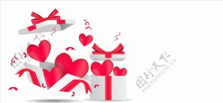 爱心和礼盒图片