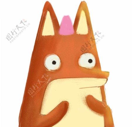 卡爱的狐狸手绘图片