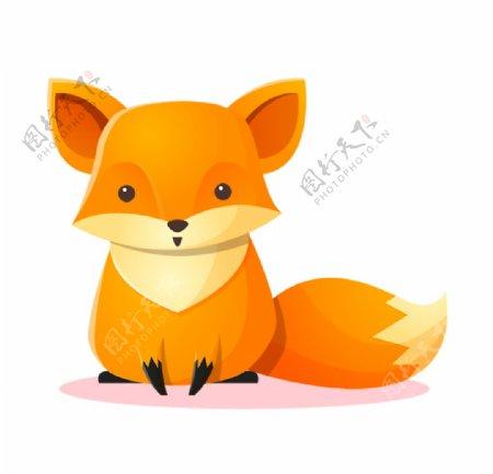 呆萌可爱卡通狐狸图片