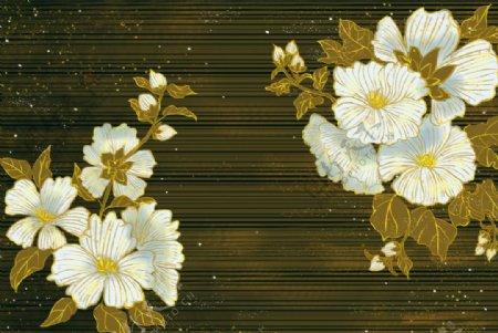 烫金花朵图片