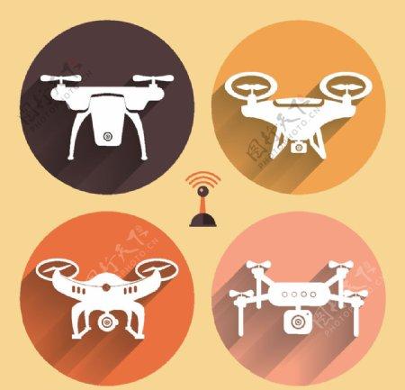 无人机矢量图标图片