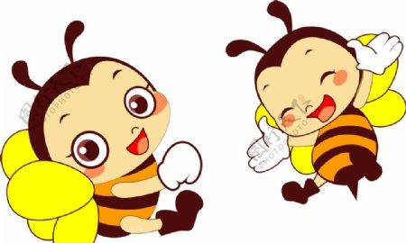 小蜜蜂矢量图图片